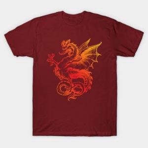 awesome dragon tee shirt