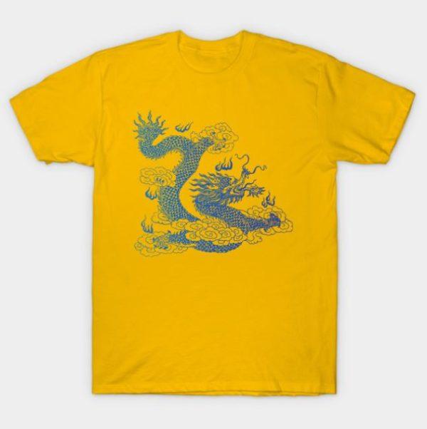 awesome japanese dragon t shirt