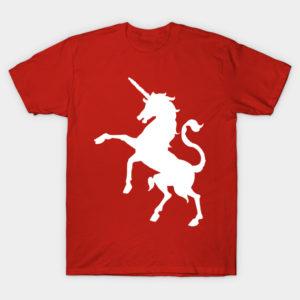 awesome white unicorn tee shirt