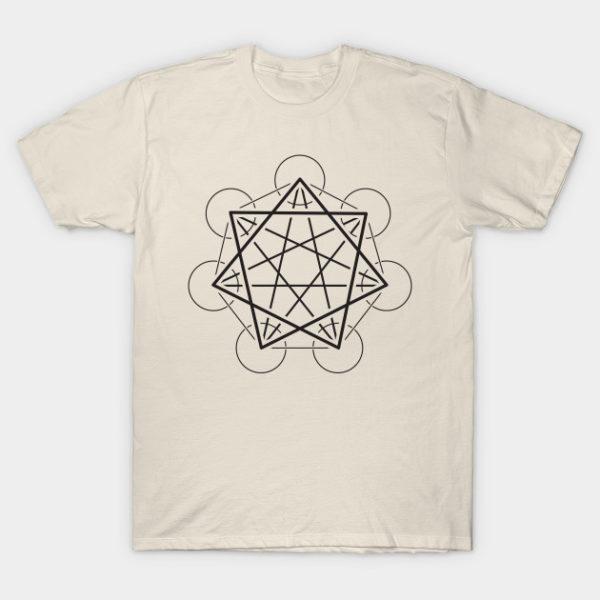 heptagram 7 sided star sacred geometry shirt