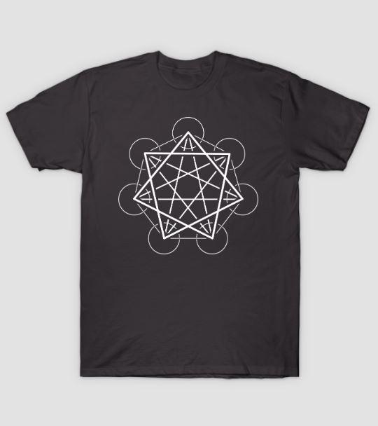 heptagram sacred geometry t shirt