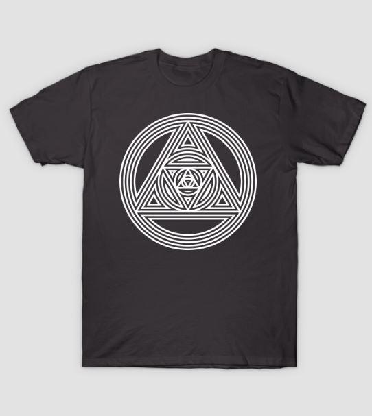 interlocking triangles sacred geometry t shirt