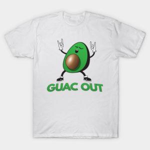 guac out avocado pun t shirt